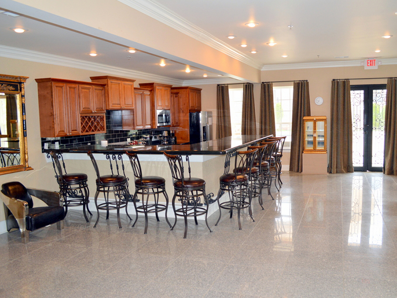 Kitchen with Bar in Clubhouse